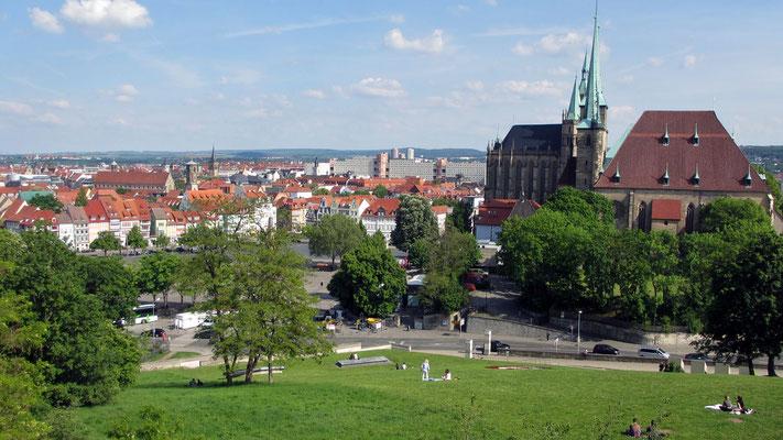 Donnerstag: Blick über Erfurt, Landeshauptstadt von Thüringen