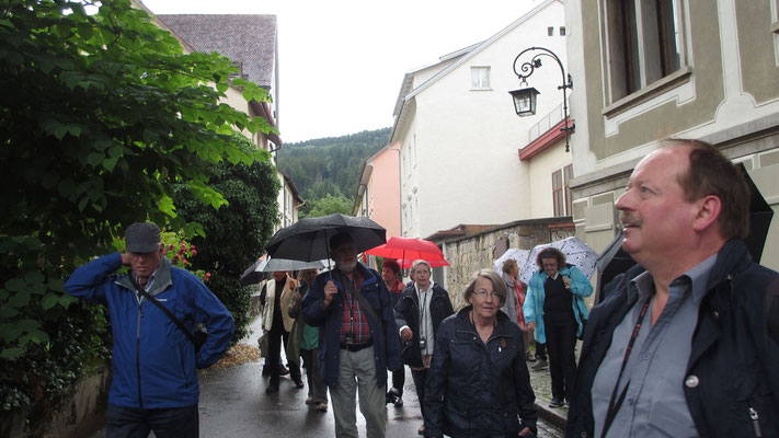 Dienstag: Am Weg zur Bregenzer Oberstadt.