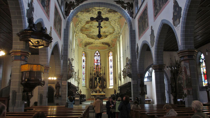 Freitag: St. Stephan's Kirche in Konstanz.