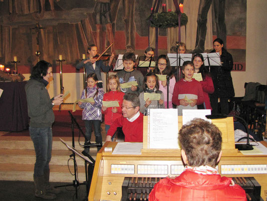 Vierter Adventsonntag, es singt der Kinderchor