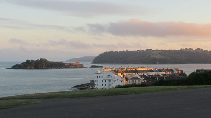 Mittwoch: Abendspaziergang vom Hotel zum Leuchtturm von Plymouth (2 von 3).
