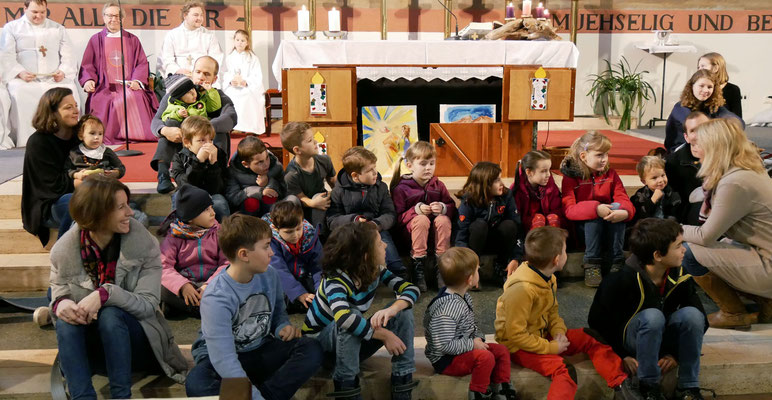 Vierter Adventsonntag, Gespräch mit den Kindern.