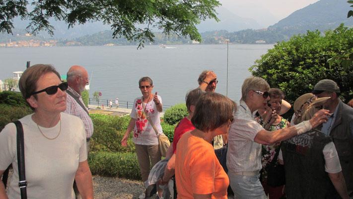 Freitag: Botanischer Garten der Villa Carlotta mit Blick auf den Como See