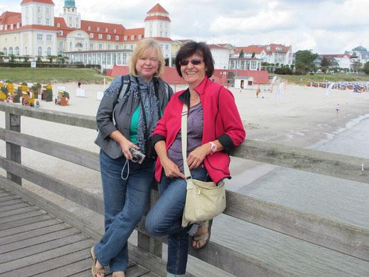 Montag: Seebad Binz auf der Insel Rügen.