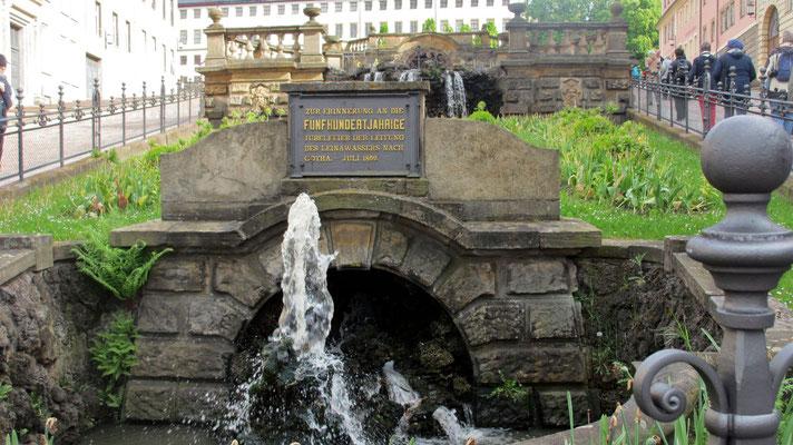 Mittwoch: Gedenktafel zum 500-Jahr Jubiläum der Wasserleitung nach Gotha