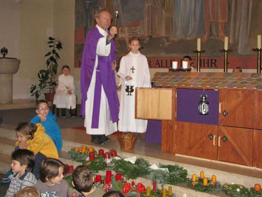 Erster Adventsonntag, Adventkranz-Weihe