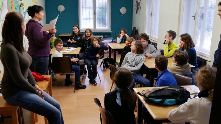 Zweiter Tag: Gruppeneinteilung im Jungscharheim