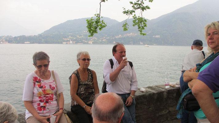Freitag: Weinverkostung am Como See (nahe der Villa Carlotta)