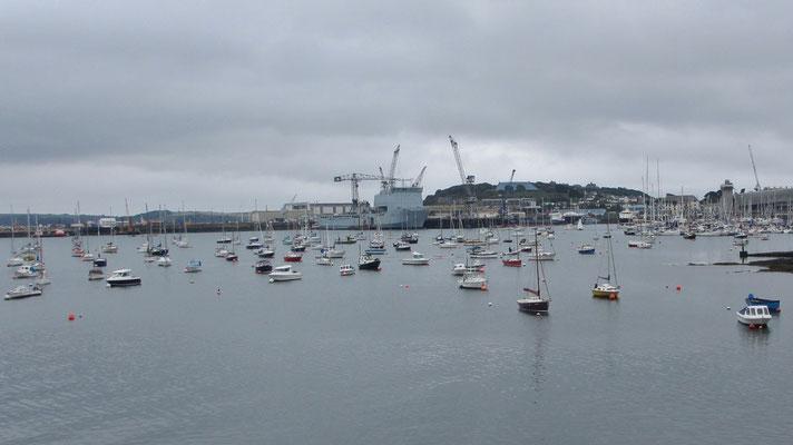 Mittwoch: Der Hafen von Falmouth ist ist der drittgrößte Naturhafen der Welt.