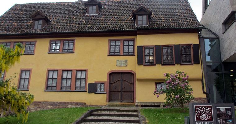 Mittwoch: Wohnhaus von Johann Sebastian Bach in Eisenach