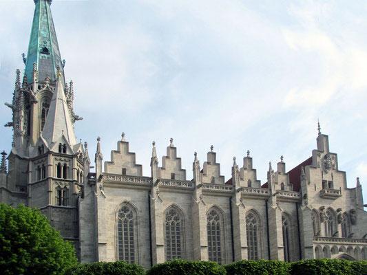 Samstag: Marienkirche in Mühlhausen, die jetzt ein Museum ist