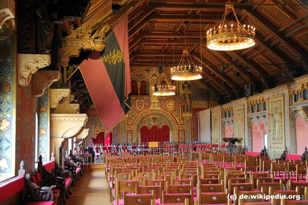 Mittwoch: Festsaal der Wartburg in Eisenach