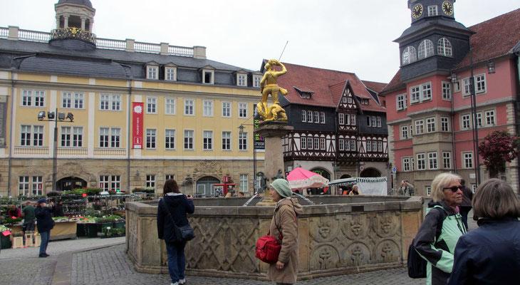 Mittwoch: Marktplatz von Eisenach