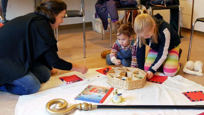Zweiter Adventsonntag, Kinderwortgottesdienst im Seelsorgeraum.