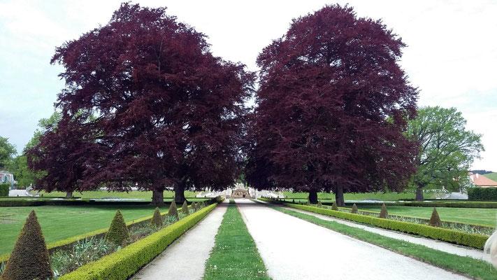 Montag: Schlossgarten des Schlosses Krumau