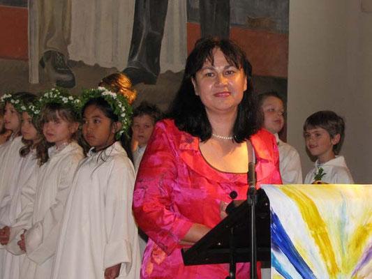Pastoralassistentin Franziska Seiser bedankt sich bei allen, die an diesem Tag und bei der Vorbereitung mitgeholfen haben.