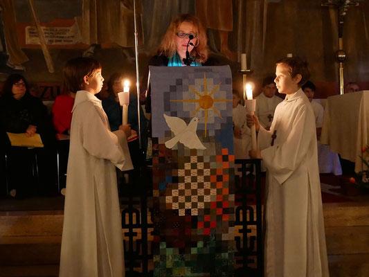Auferstehungsfeier am Ostersonntag  um 5:00 Früh, dritte Lesung