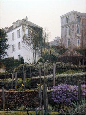 Monmatre Vineyard: Oil on Canvas H40cm W30cm - SOLD