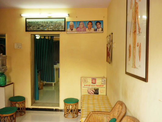 Unterstütztes Projekt Barefoot Acupuncturists Mumbai Indien Praxis Warteraum