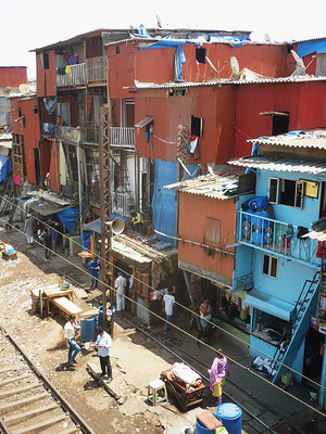 Unterstütztes Projekt Barefoot Acupuncturists Mumbai Indien Umgebung Slum