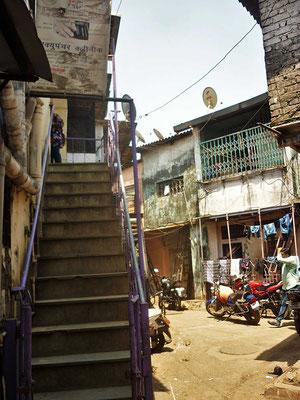 Unterstütztes Projekt Barefoot Acupuncturists Mumbai Indien Eingang Praxis