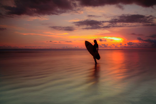 Sunset Surfing II , Costa Rica