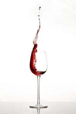 Weinglas Spritzer