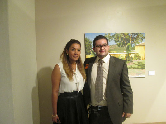Colombian Consul Eliana Pedrozo and me
