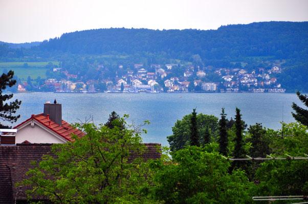 Bella Vista Balkon - Sicht auf den Bodensee - Ferienwohnung Überlingen am Bodensee
