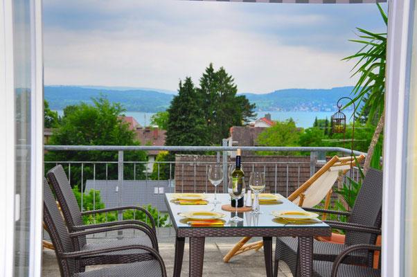 Bella Vista Balkon - Ferienwohnung Überlingen am Bodensee