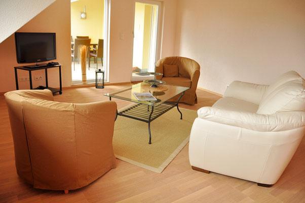 Bella Vista Wohnzimmer - Ferienwohnung Überlingen am Bodensee
