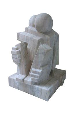 Paar    2011   23x23x34 cm   Marmor