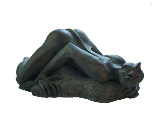 3  EchsenMensch  2008  96x54x40cm  Gips/Acryl patiniert  Bronze möglich