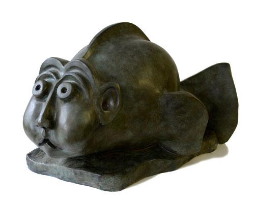 2  FischMensch gross  2007  80x57x46cm  Kunststein  Bronze möglich
