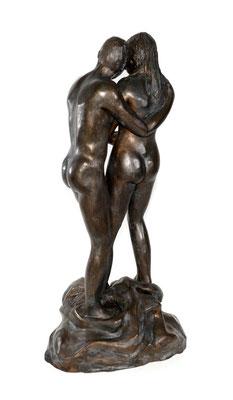 8  Stehendes Paar  2010  30x26x60cm   Gips/Acryl patiniert   Verkauf nur in Bronze