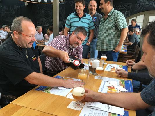 Bier Braufrisch und Mitagessen bei der Feldsschlössen