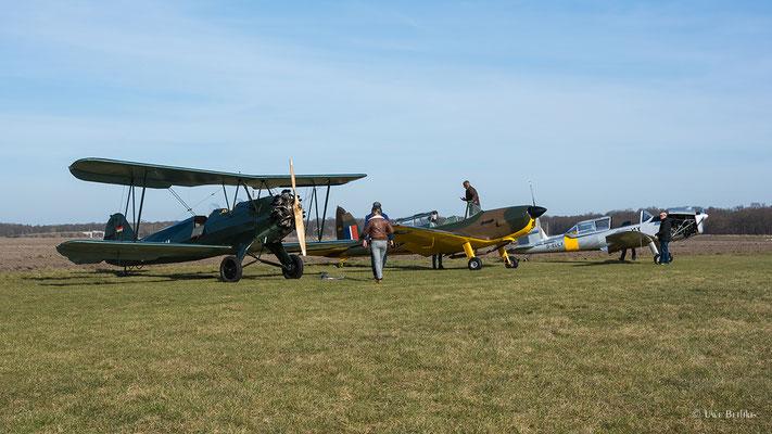 Focke Wulf Fw 44 Stieglitz (D-EXWL), 2 x de Havilland DHC-1 Chipmunk (D-EFOM, D-ELLY)