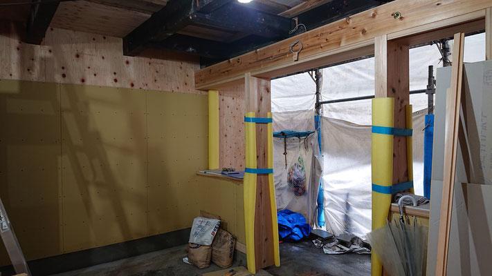 R元年公募型事業応募予定:改装物件_木工事:既存腐食梁の補強及び既存軒先復元