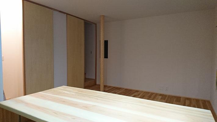 戸建改装工事完了_京杣木の八角柱