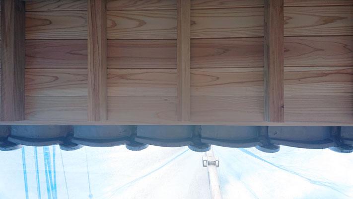 緑の木まち拡大事業:新築物件_木工事:軒庇完成