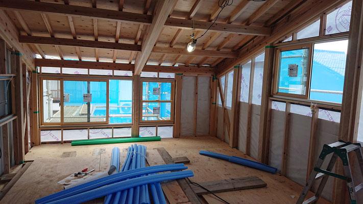 緑の木まち拡大事業:新築物件_木工事:構造補強・間柱・窓枠下地他