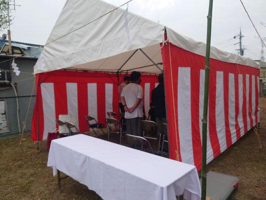 A様新築工事地鎮祭
