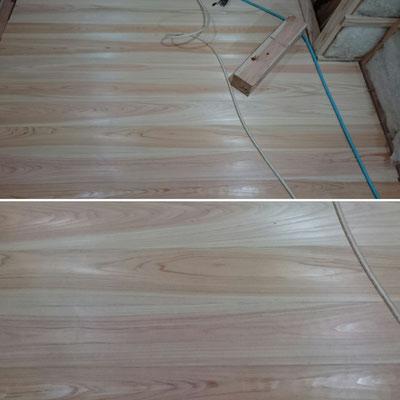 別棟床板桧並|京都府産材|木のまちづくり推進事業|緑の工務店|タクミ建設