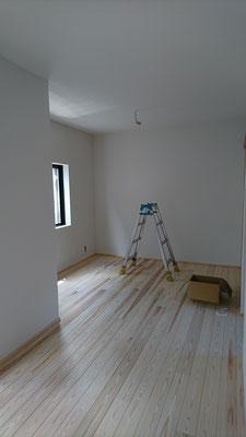 改装工事_吉野杉の床板