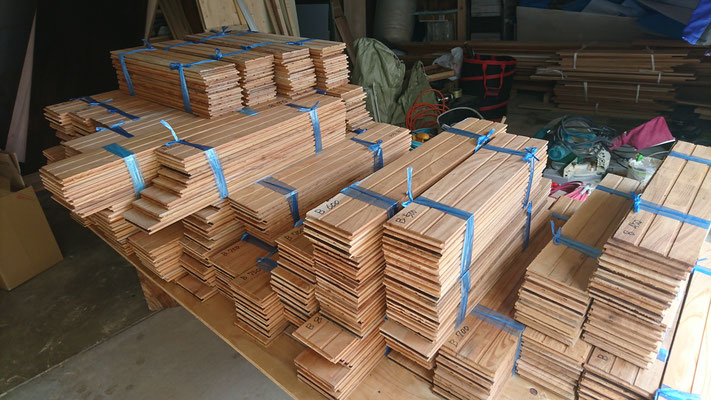 欅の乱尺床板
