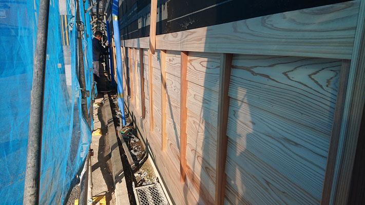 緑の木まち拡大事業:新築物件_木工事:外壁鎧
