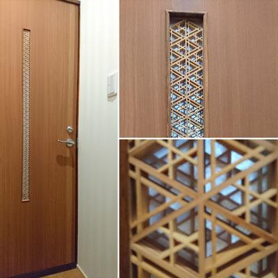 G様邸改装工事_松井裕志氏の組子細工スリット入り造作建具