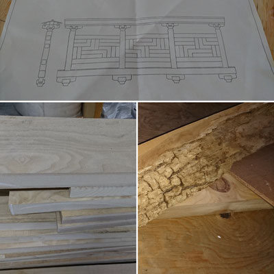 「木のまちづくり推進事業」卍崩し組子設計図と窓枠造作