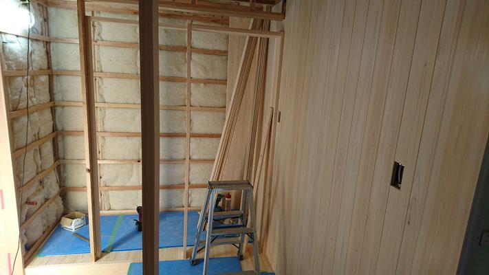 公募型木のまちづくり事業_改装内部玄関周囲桧仕上