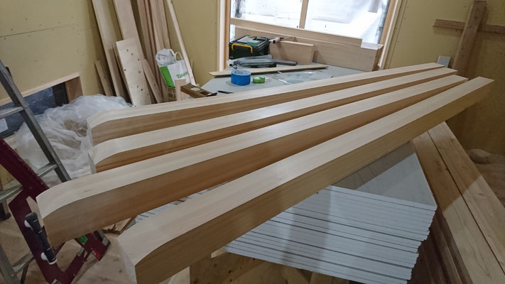 公募型木のまちづくり事業_腕木造作中